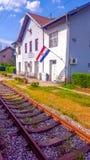 火车站Popovaca 库存照片