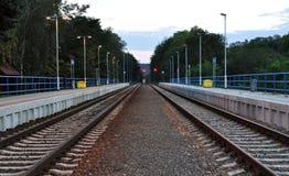 火车站Siluvky,捷克,欧洲 免版税库存图片