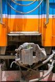 火车联结箱子 库存图片