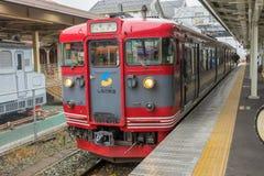 火车被停止在轻井泽火车站 库存照片