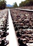 火车跟踪特写镜头 免版税库存图片