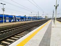 火车跟踪透视图 免版税库存图片