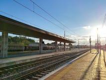 火车跟踪透视图 免版税库存照片