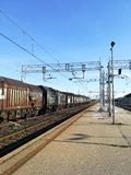 火车跟踪透视图 免版税图库摄影