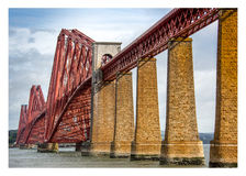 火车跨接到爱丁堡 免版税库存图片