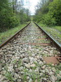 火车路线通过山 库存照片