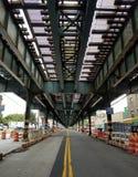 火车路轨纽约 免版税图库摄影