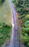 火车轨道在纳稀威田纳西 免版税库存照片