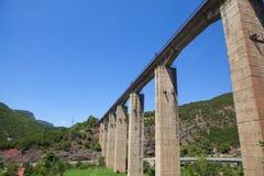 火车轨道在阿尔巴尼亚 免版税库存照片