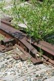 火车轨道房屋板壁开关 库存照片
