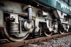 火车轮子 免版税库存图片