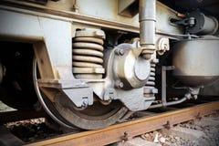 火车轮子 免版税库存照片