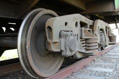 火车驱动轮 库存照片