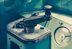 火车驾驶舱  免版税库存图片