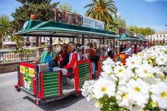 火车巴伊扎,西班牙 免版税库存图片