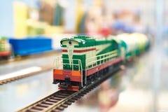 火车活动玩具铁路 库存图片