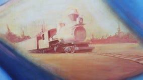 火车绘画 库存图片