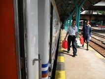 火车passangers 图库摄影