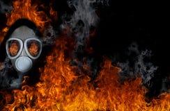 火防毒面具 库存图片