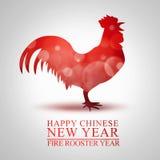 火雄鸡的农历新年 库存照片