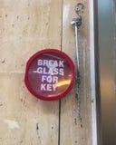 火预防安全钥匙的存贮  库存图片