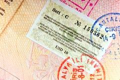 火鸡签证 库存照片