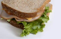 火鸡肉三明治用莴苣 图库摄影