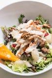 火鸡胸脯沙拉用核桃和柚 免版税图库摄影
