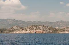 火鸡 地中海coastExcursion代姆雷米拉, Kekova 免版税图库摄影