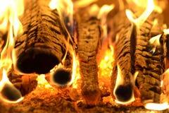 火,壁炉,晚上,夜 库存照片
