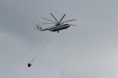 火直升机 免版税图库摄影