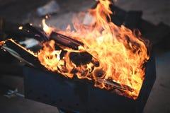 火 面包渣 库存图片