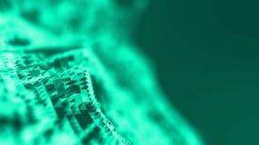 火abstact蓝色背景 爆炸颜色3D例证 免版税库存图片