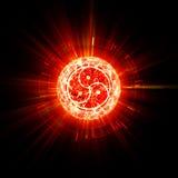 火bdsm标志摘要 库存图片