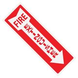 灭火器标志贴纸 库存照片