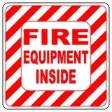 灭火器的标志在传染媒介的,被隔绝在白色 免版税库存图片