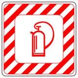 灭火器的标志在传染媒介的,被隔绝在白色 免版税图库摄影