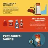 灭绝害虫控制服务横幅模板设计有益健康国内灭绝消毒作用设备 库存例证