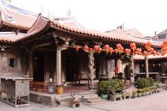 灯会在龙山寺在台湾 库存照片