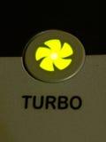 绿灯作为背景的涡轮按钮 免版税库存图片