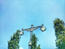 灯在公园 免版税库存图片