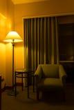 灯在卧室 库存照片