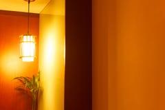 灯在卧室 库存图片