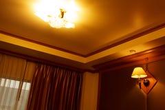 灯在卧室 免版税图库摄影