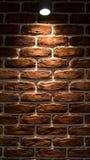 灯在墙壁发光 免版税库存图片