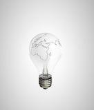 灯地球 免版税库存图片