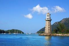 灯塔。凌家卫岛,马来西亚 免版税库存图片