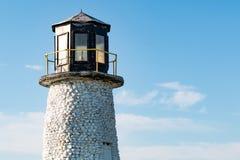 灯塔上面在Buckroe海滩公园和海滩的 免版税库存图片