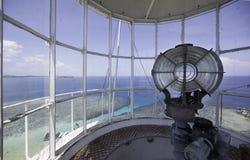 从灯塔上面的海视图 库存照片
