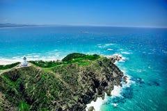 灯塔俯视的海洋 图库摄影
